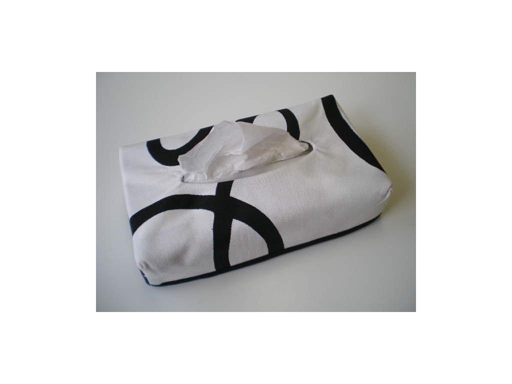 Povlak na krabičku papírových kapesníků - Esprit bílá