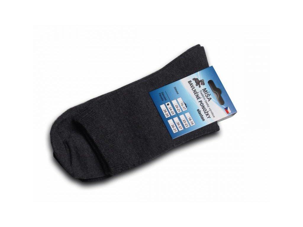 Bavlněné ponožky - antracit hladká