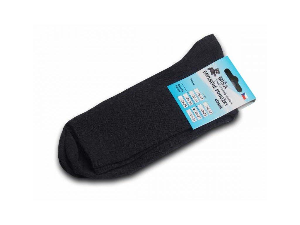Bavlněné ponožky - antracit vzor