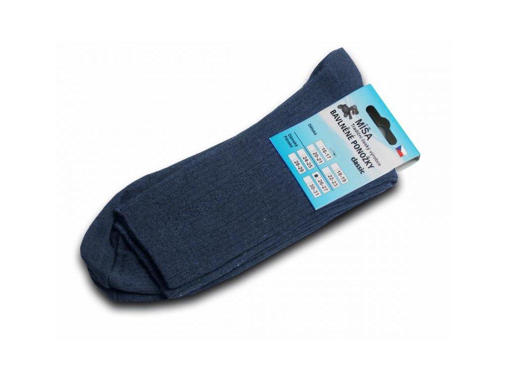 Bavlněné ponožky - modrý melír vzor