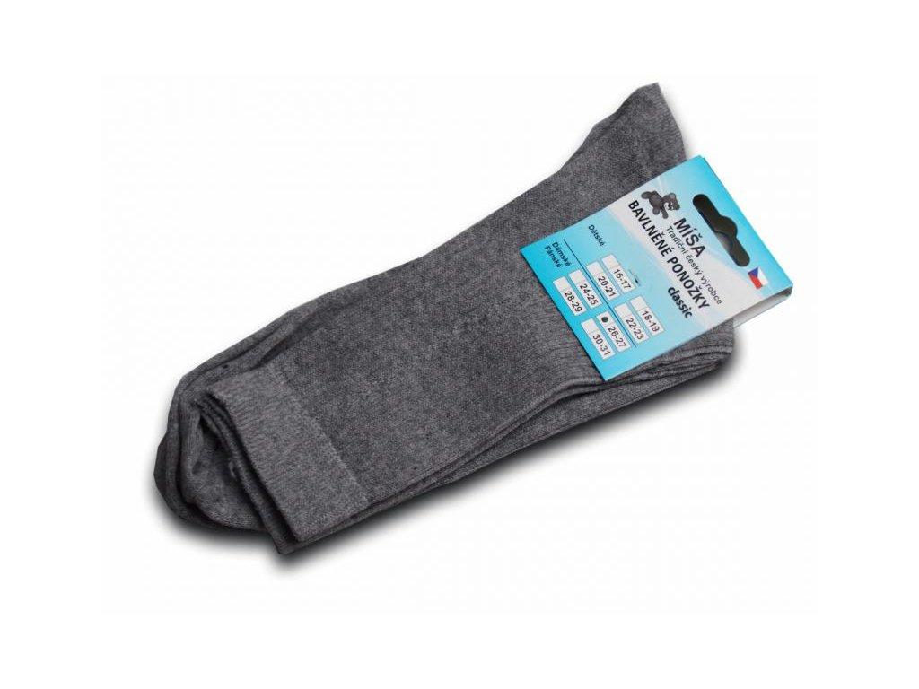 Bavlněné ponožky - šedá vzor