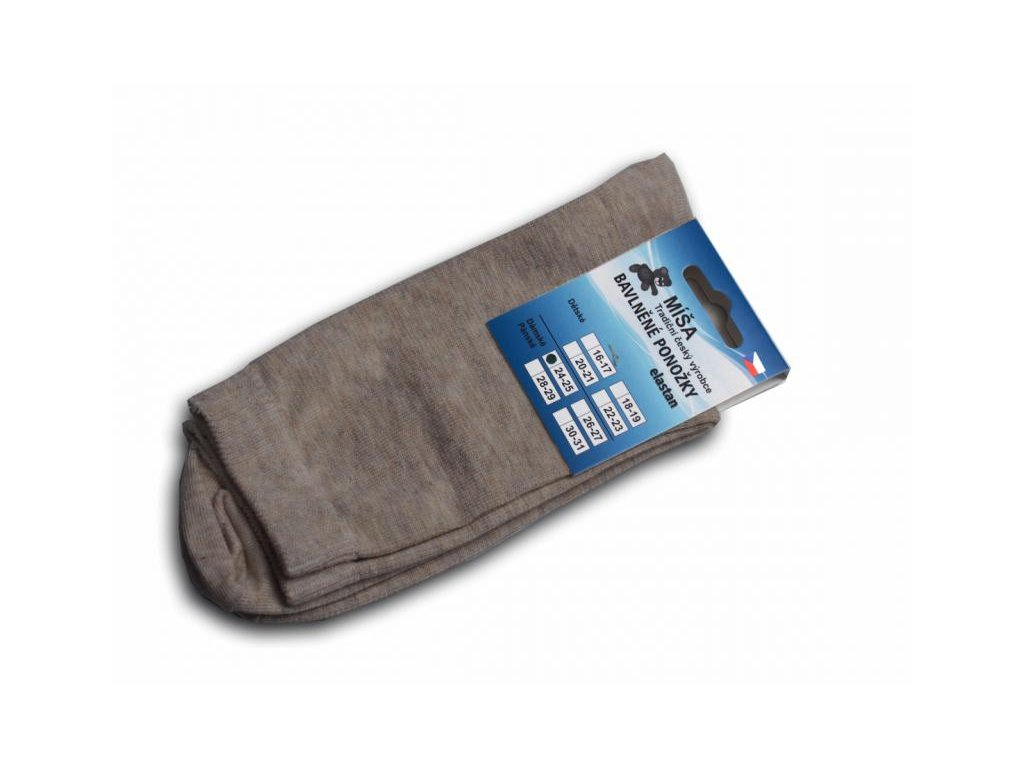 Bavlněné ponožky - smetanová hladká