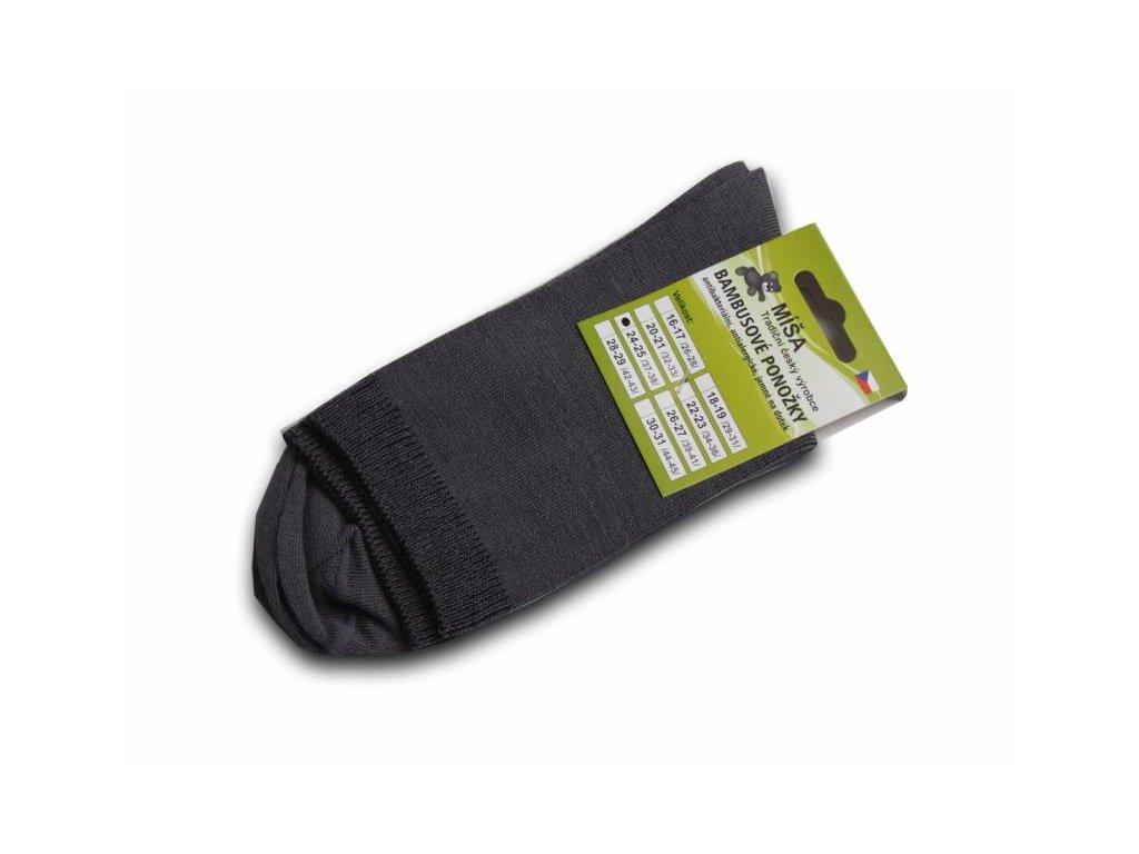 Bambusové ponožky - antracit