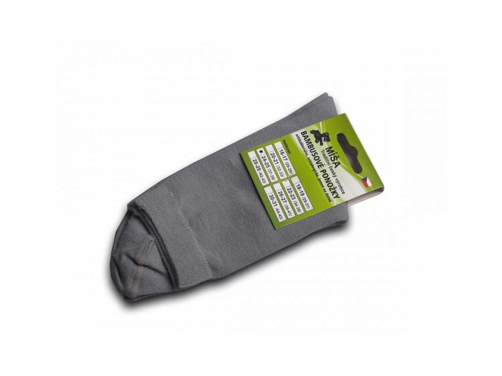 Bambusové ponožky - šedá