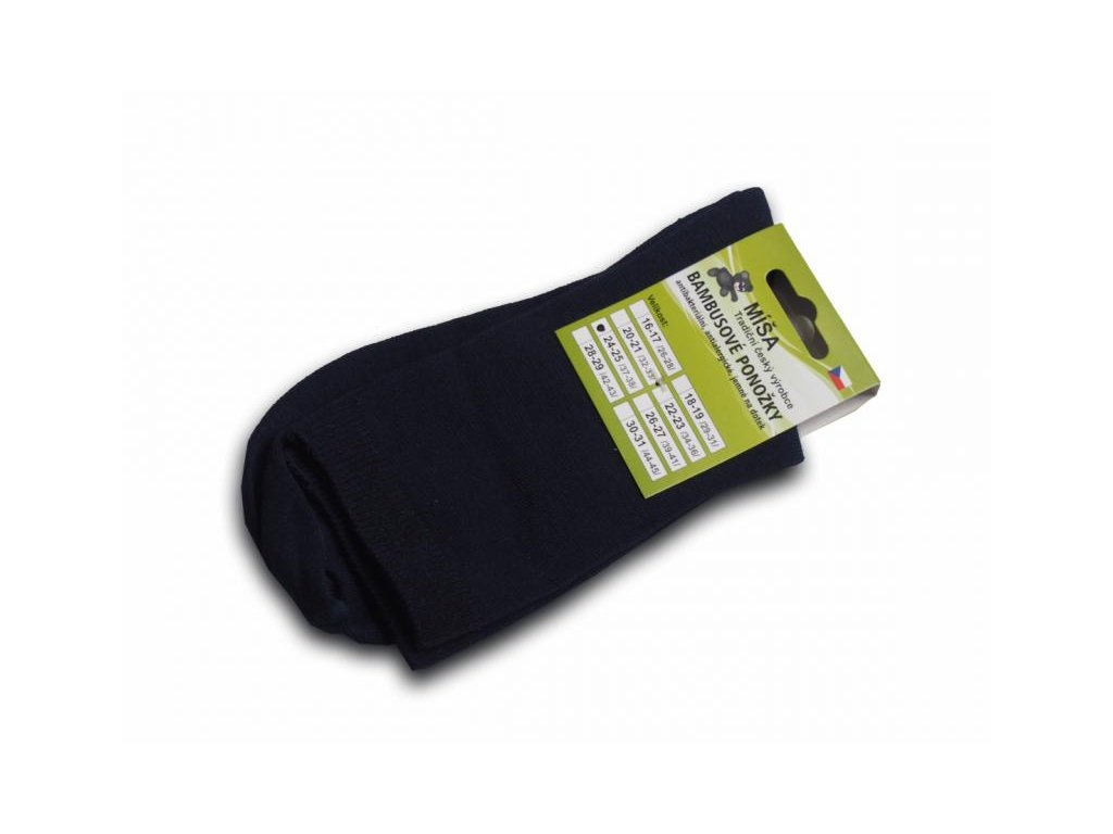 Bambusové ponožky - tmavě modrá