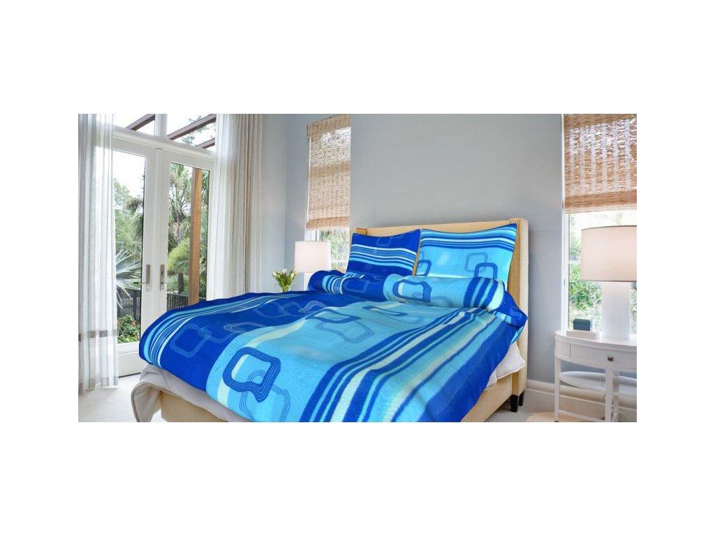 Bavlněné povlečení 140x200 - Tonda modrý