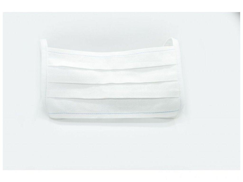Bavlněná rouška bílá dvouvrstvá