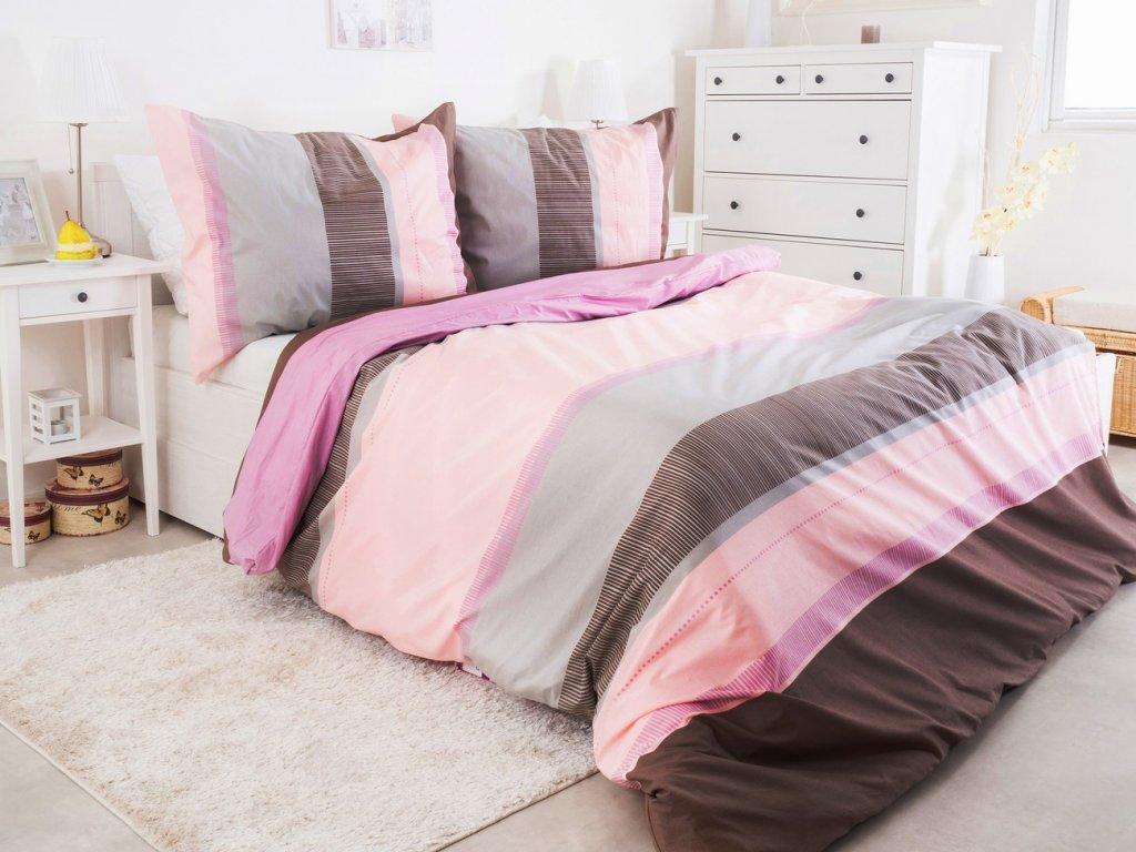 Krepové povlečení 140x200 - Pink