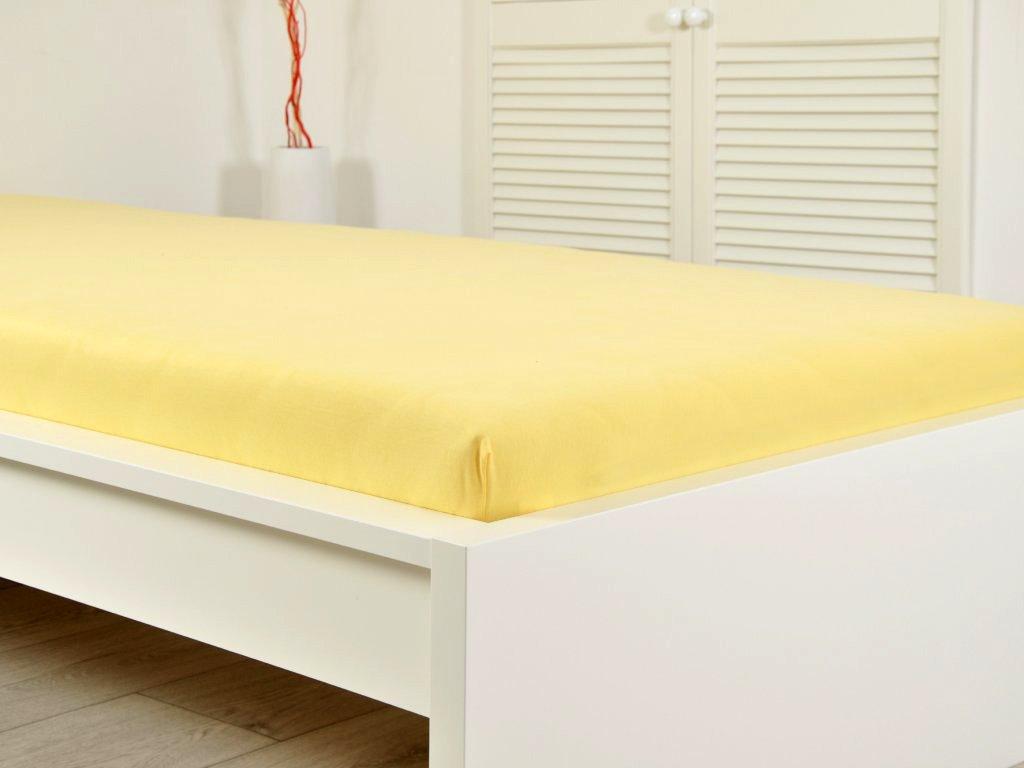 Jersey prostěradlo 180x200 - žlutá