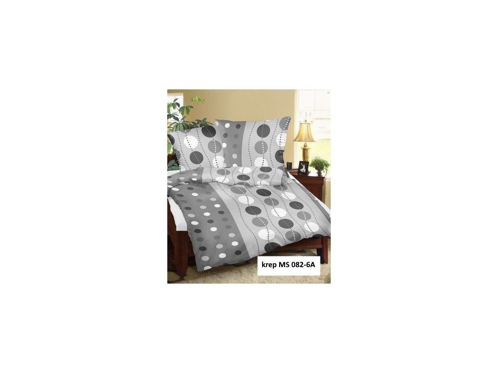 Krepové povlečení 140x200 - Kvido šedý
