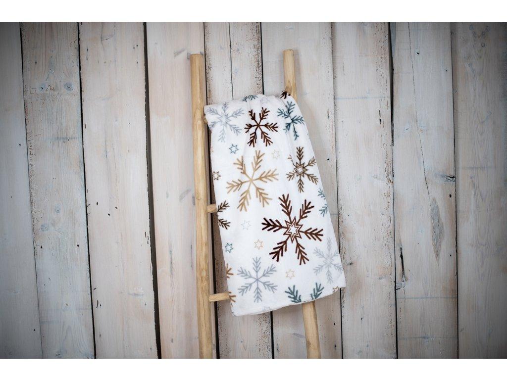 Mikroplyšová deka 150x200 - Hnědá vločka