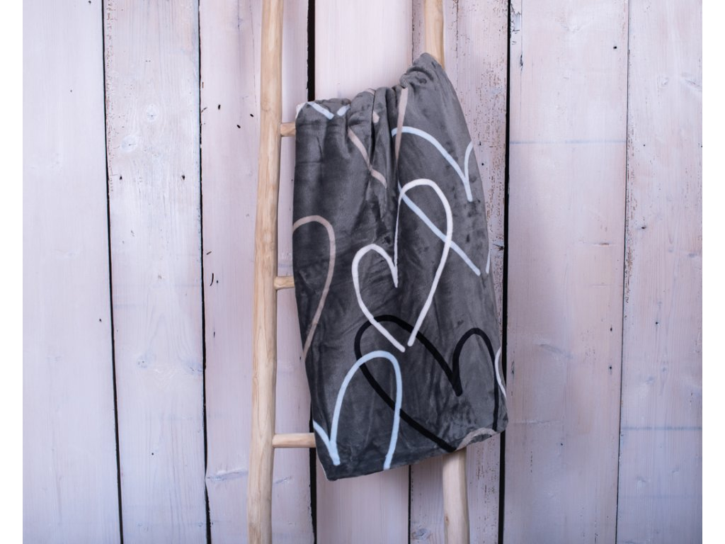 Mikroplyšová deka 150x200 - Love