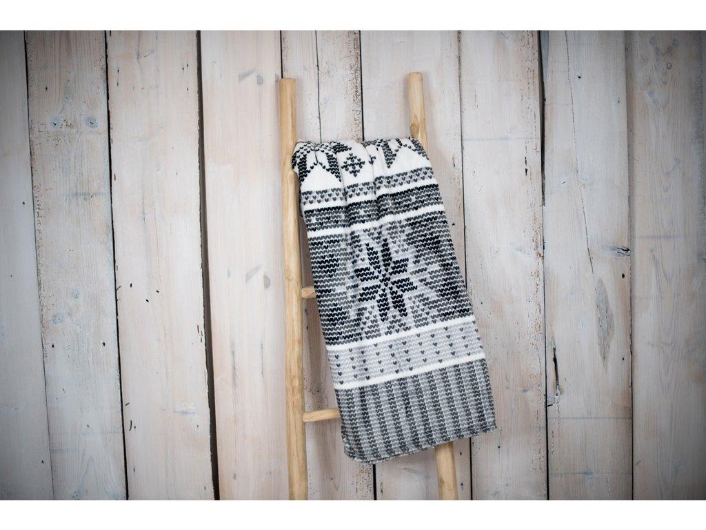 Mikroplyšová deka 150x200 - Vločka