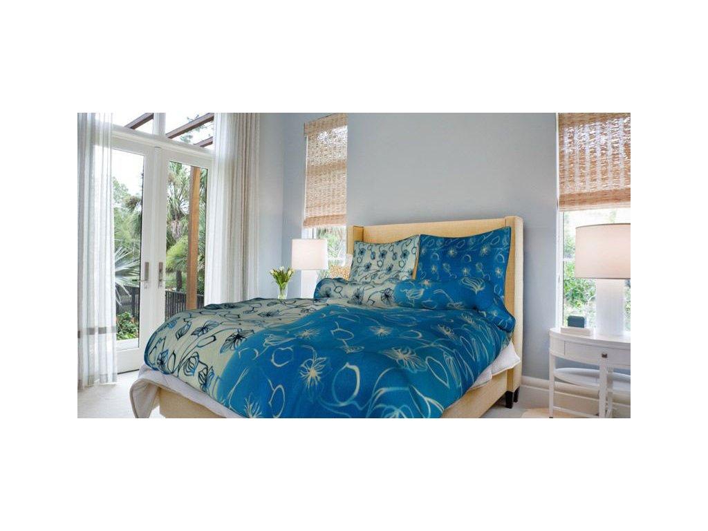 Bavlněné povlečení prodloužené (140x220) - Nové stvoly modré