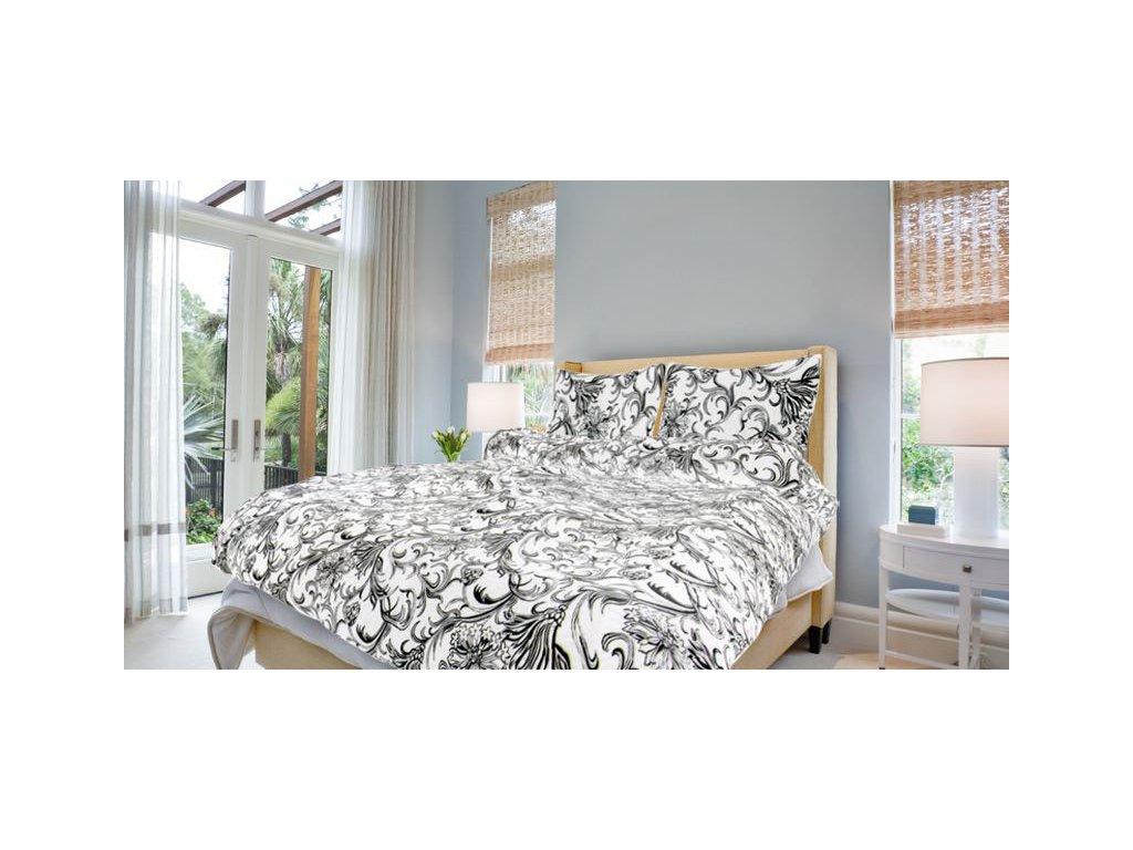 Bavlněné povlečení prodloužené (140x220) - Zuzana bílá