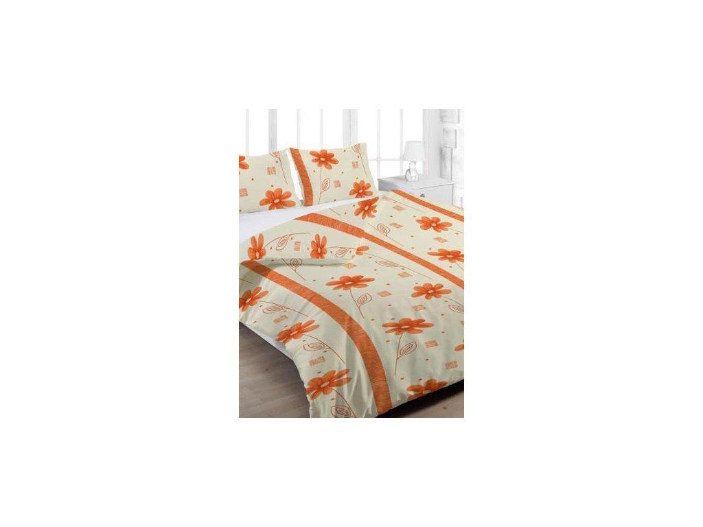 Krepové povlečení 140x200 - Anežka oranžová