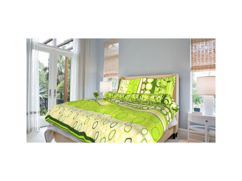 Francouzské bavlněné povlečení 200x220 - Řehoř zelený
