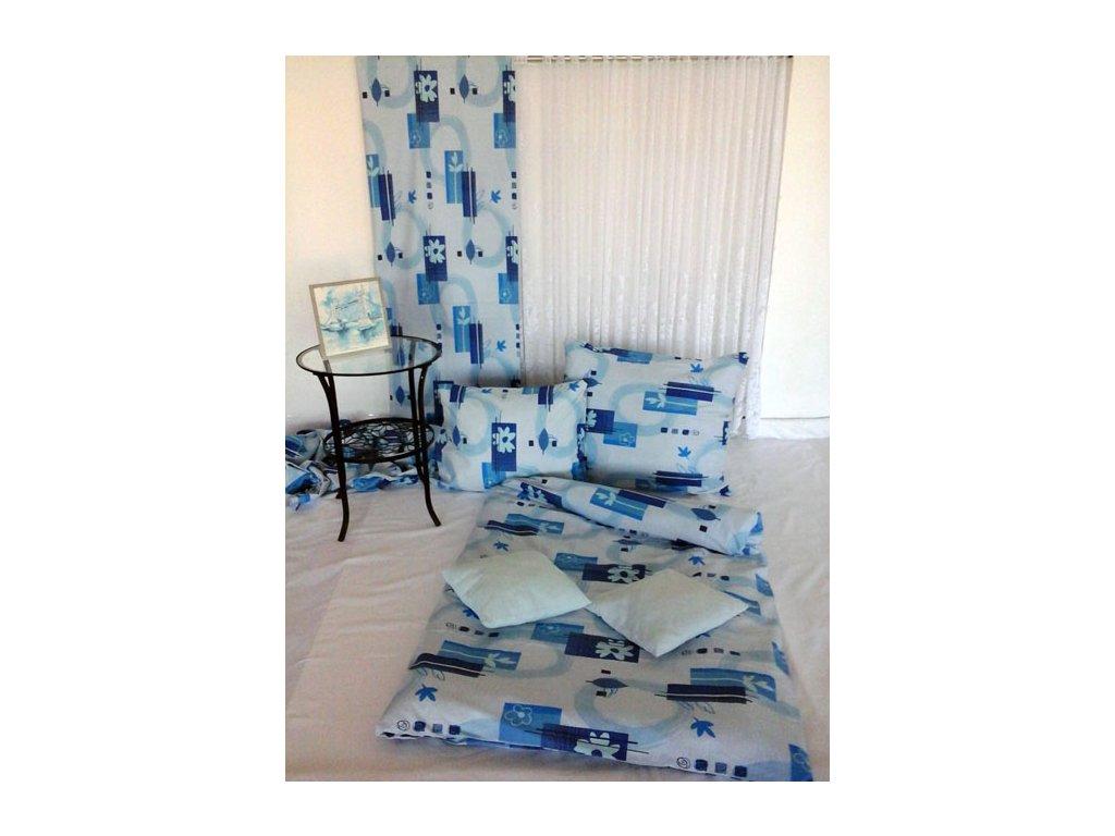 Francouzské bavlněné povlečení 200x220 - Selma modrá