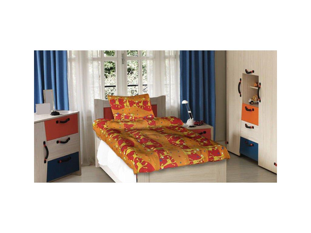 Dětské bavlněné povlečení - Žirafy oranžové