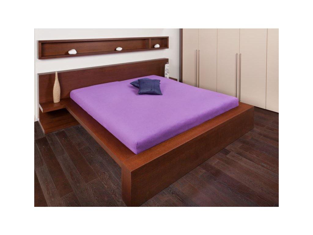 Froté prostěradlo 90x200 - tmavě fialová