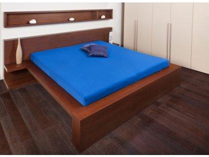 Jersey prostěradlo 180x200 - královská modř