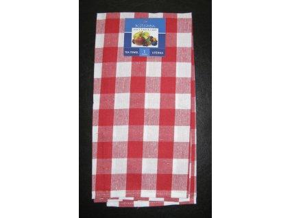 Kuchyňská utěrka červená - kostka - 1 ks