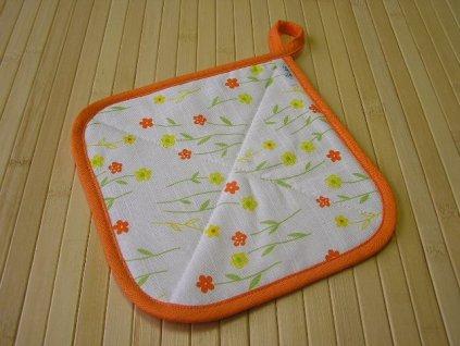 Termopodložka - Jarní květiny oranžové