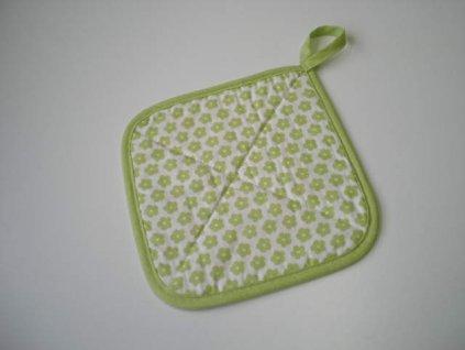 Termopodložka - Zelená kytička