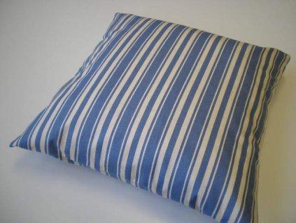 Povlak na polštář - Modré pruhy