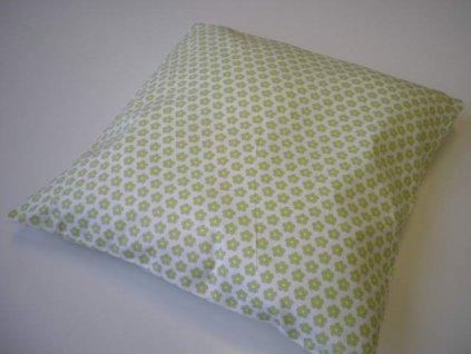 Povlak na polštář - Zelená kytička