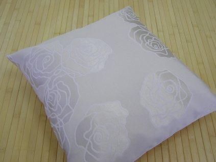 Polštář s výplní - Růže smetanová