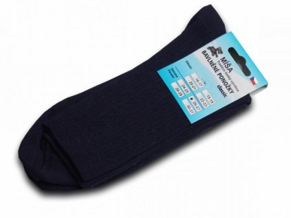 Bavlněné ponožky - tmavě modrá hladká