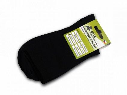 Bambusové ponožky - černá