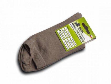 Bambusové ponožky - hnědá