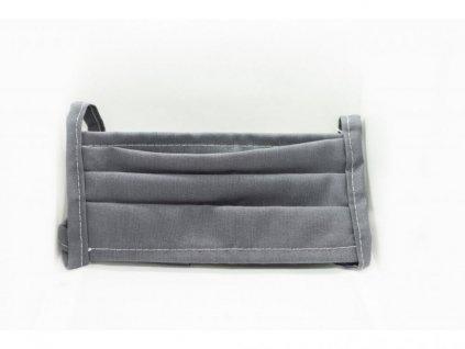 Bavlněná rouška šedá dvouvrstvá