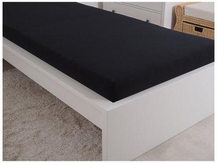 Jersey prostěradlo 180x200 - černá
