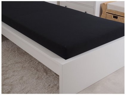 Jersey prostěradlo 90x200 - černá