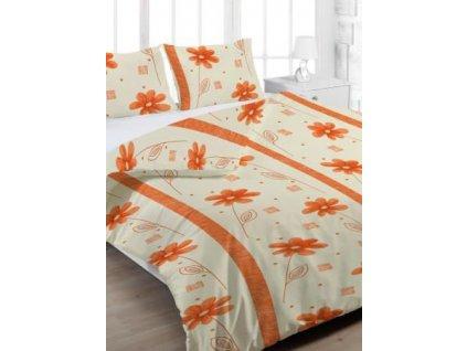 Bavlněné povlečení prodloužené (140x220) - Anežka oranžová
