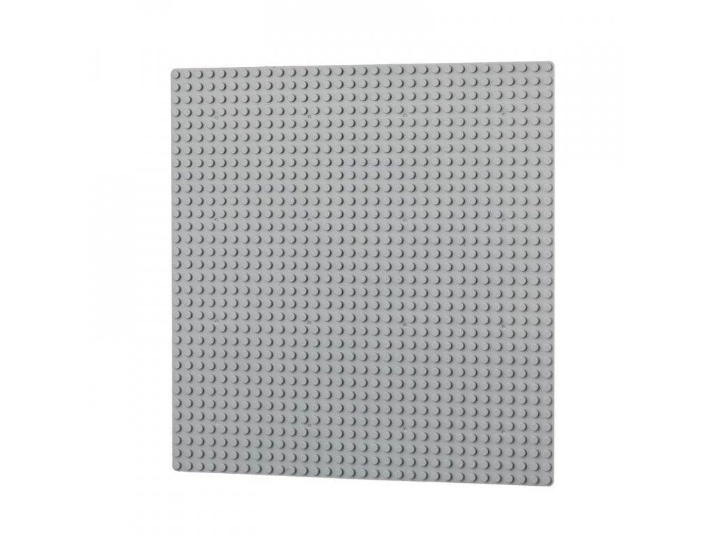 Podložka na stavění 32x32 bodů - světle šedá  kompatibilní s Lego, Sluban, Cogo aj.