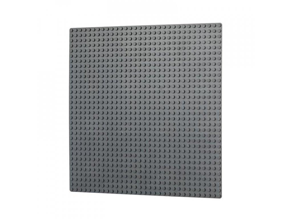 Podložka na stavění 32x32 bodů - tmavě šedá  kompatibilní s Lego, Sluban, Cogo aj.