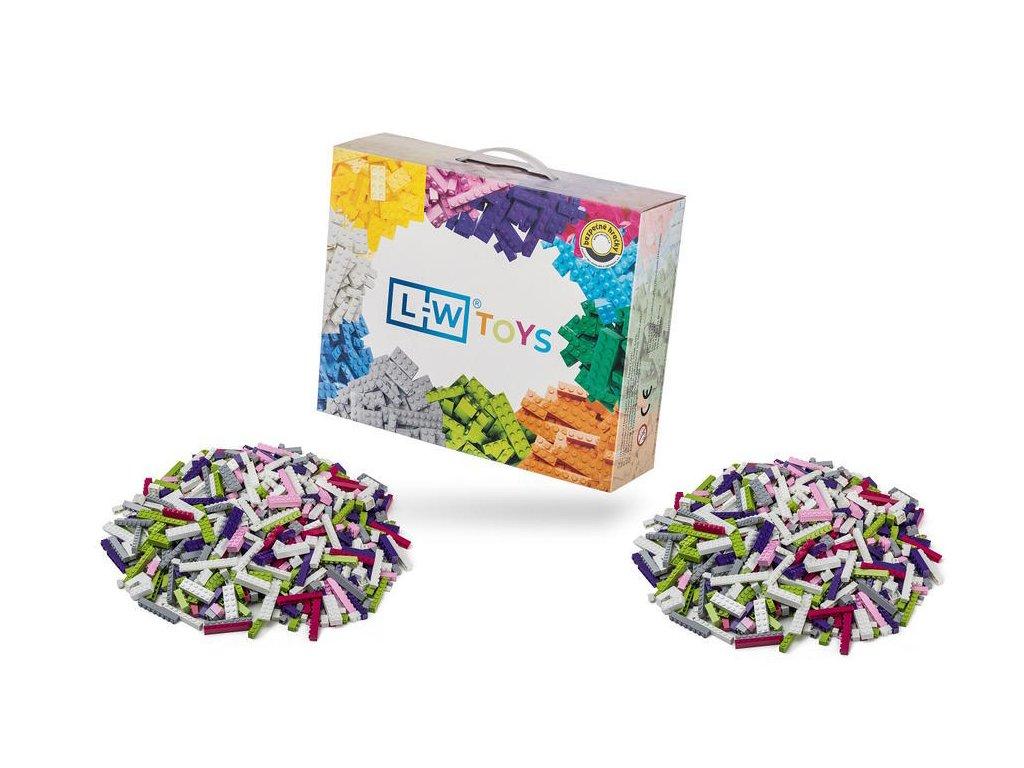 Stavebnice pro děti - Dívčí set 2000 ks  kompatibilní s Lego, Sluban, Cogo aj.