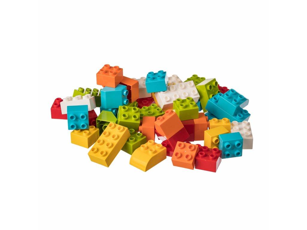 Stavebnice pro nejmenší stavitele - JUNIOR 50 ks  kompatibilní s Lego Duplo aj.