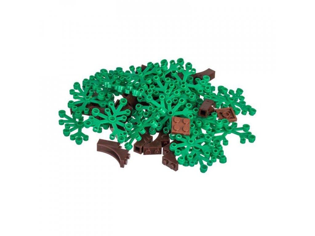 Kreativní set stromy 50 ks  kompatibilní s Lego, Sluban, Cogo aj.