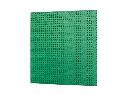 Podložka na stavění 32x32 bodů - tmavě zelená  kompatibilní s Lego, Sluban, Cogo aj.