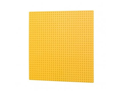 Podložka na stavění 32x32 bodů - žlutá  kompatibilní s Lego, Sluban, Cogo aj.