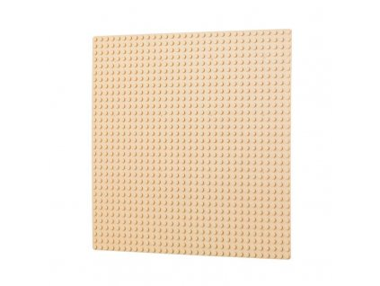 Podložka na stavění 32x32 bodů - pleťová  kompatibilní s Lego, Sluban, Cogo aj.