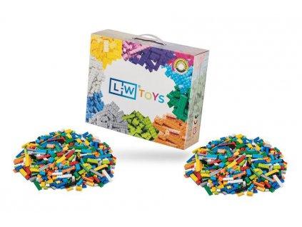 Stavebnice pro děti - Základní set 2000 ks  kompatibilní s Lego, Sluban, Cogo aj.