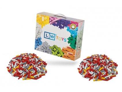 Stavebnice pro děti - Hasičský set 2000 ks  kompatibilní s Lego, Sluban, Cogo aj.