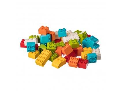 Stavebnice pro nejmenší stavitele - JUNIOR KOSTKY 50 ks  kompatibilní s Lego Duplo aj.