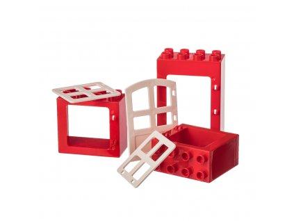Kreativní set okna a dveře 3 ks - JUNIOR KOSTKY  kompatibilní s Lego Duplo aj.